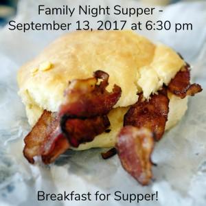 Family Night Supper Sept 2017